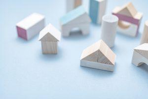 積み木の家の写真